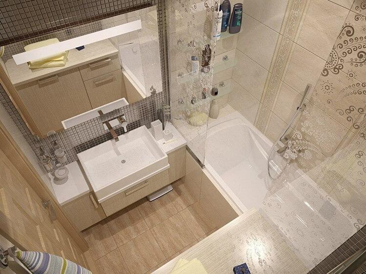 Дизайн плитки в ванной комнате в современном стиле
