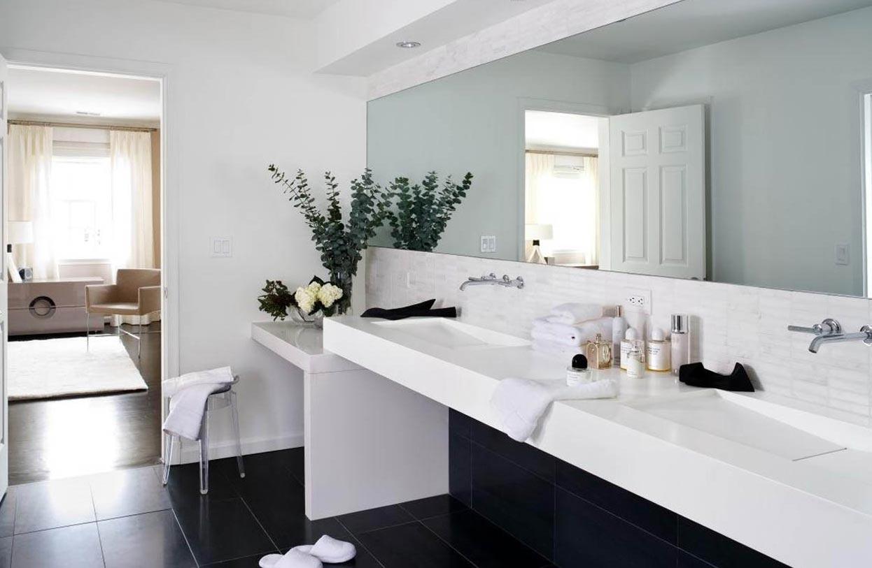 белая ванная в современном стиле 1