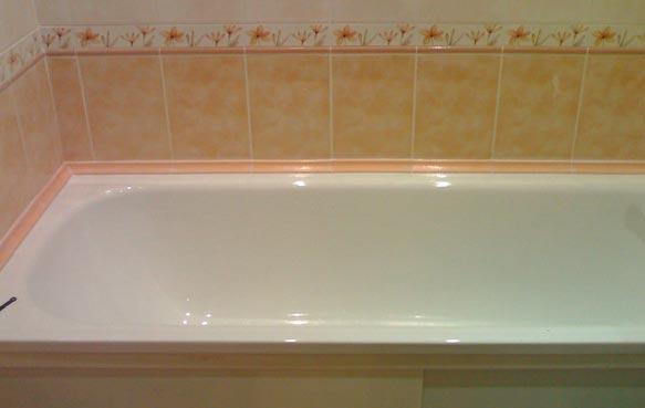 бордюр в ванной комнате
