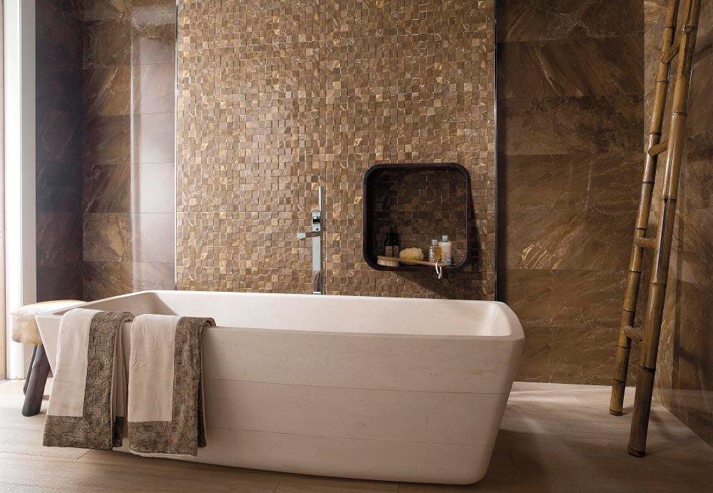 Цена плитки под мрамор в ванной 3