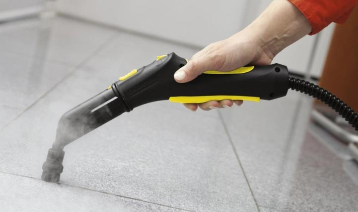 как очистить плитку от клея с помощью пароочистителя
