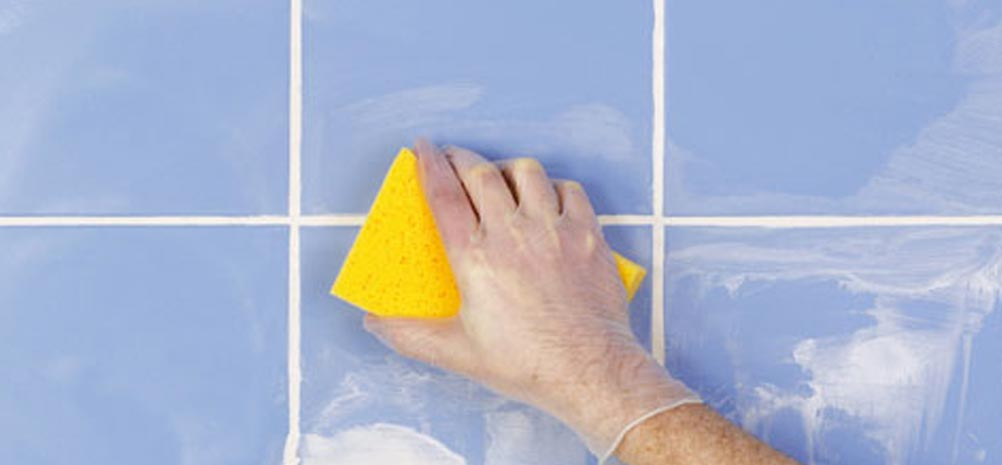 чистка плитки после затирки