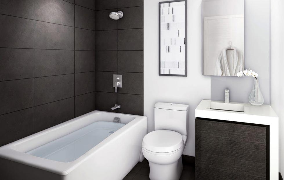 дизайн маленькой ванной с совмещенным санузлом