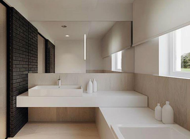 интерьер ванной комнаты минимализм