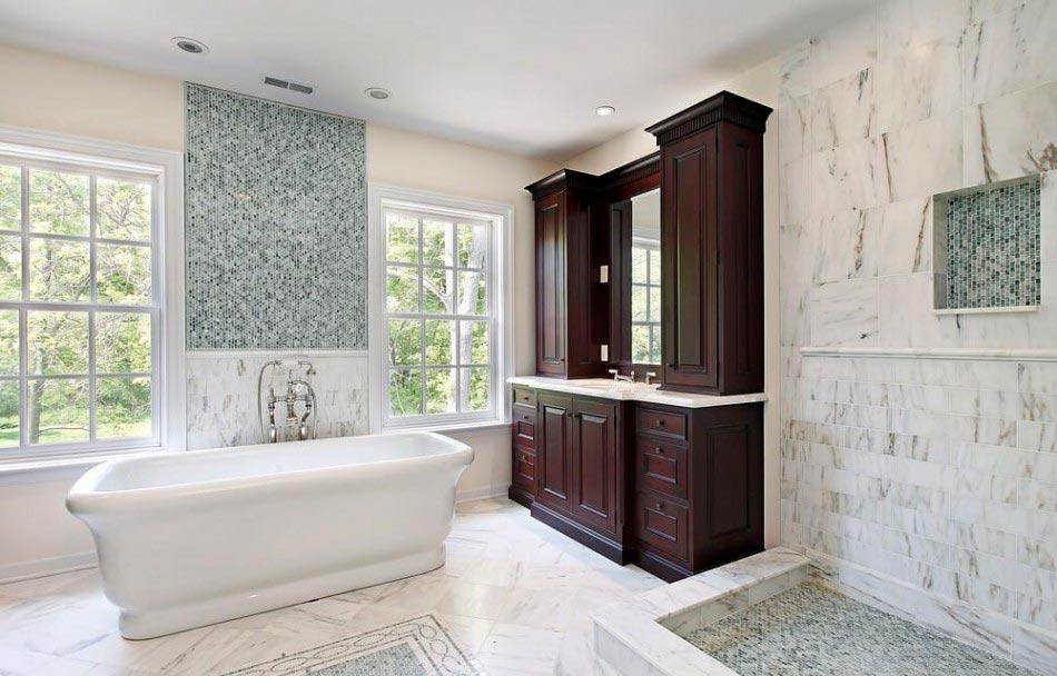 Дизайн ванной комнаты, выполненной из мрамора 3