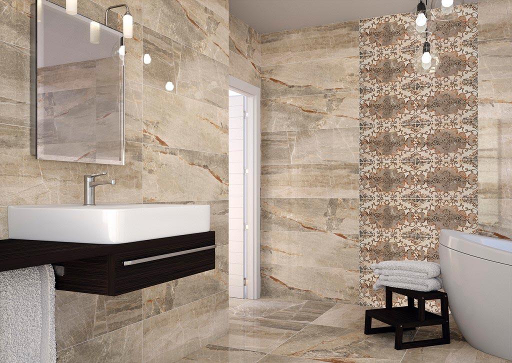 Характеристики и дизайн плитки под мрамор для ванной 2
