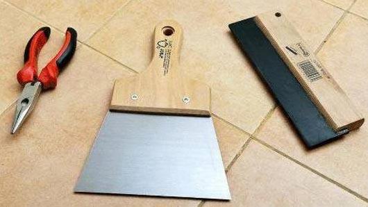 инструменты и материалы для затирки