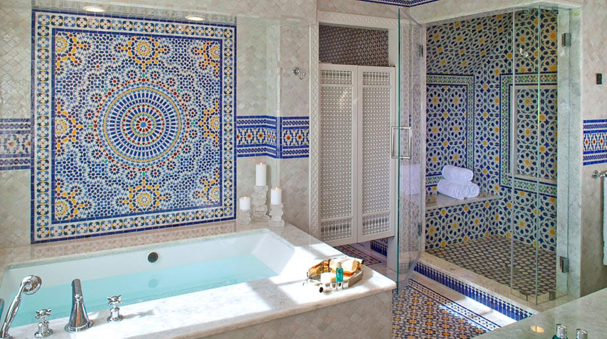 интерьер ванной комнаты в восточном стиле 2