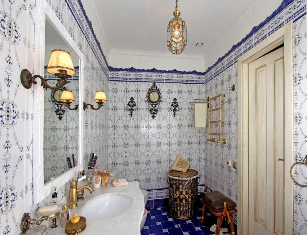 испанская плитка для ванной в стиле прованс