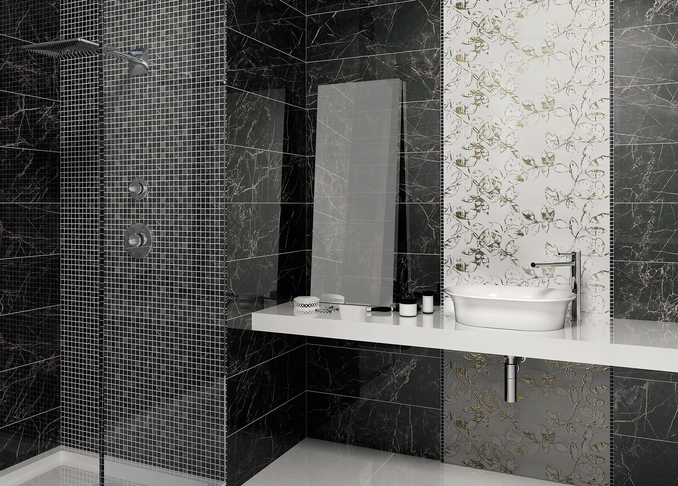 керамическая плитка керама марацци для ванной-дизайн