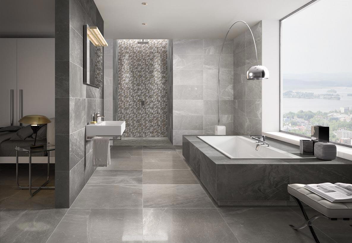 керамогранитная плитка для современной ванной-дизайн