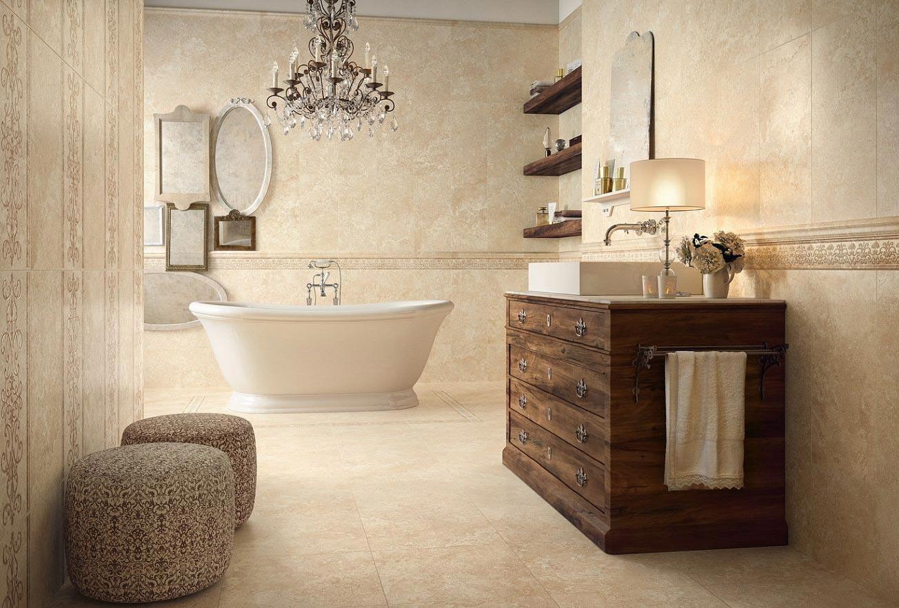 керамогранитная плитка для ванной-дизайн