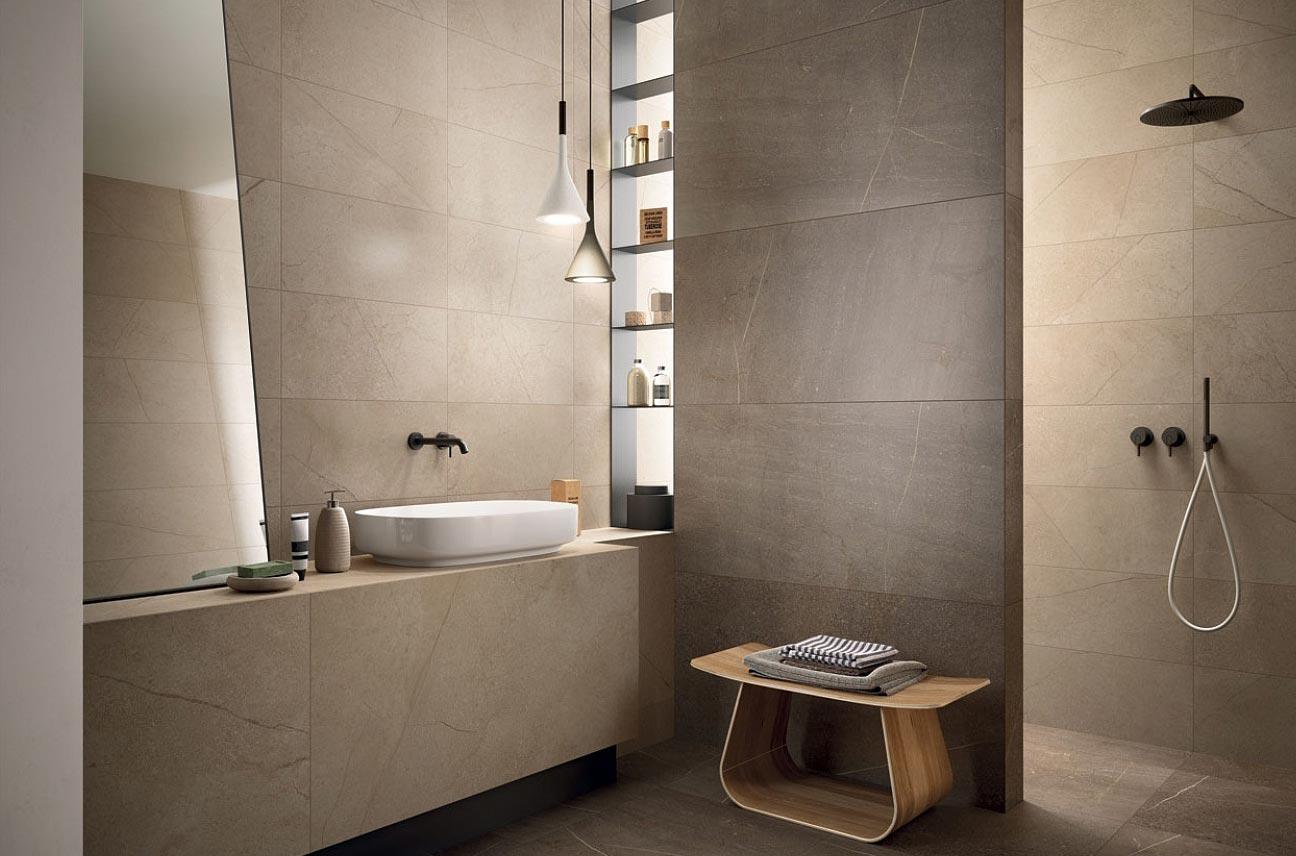 керамогранитная плитка для ванной в современном стиле