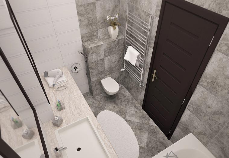 маленькая ванная комната модульная