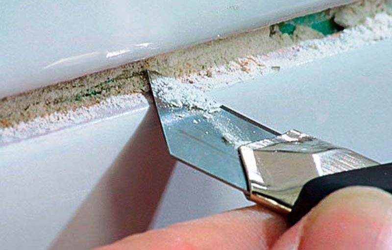 Малярный нож удаление затирки
