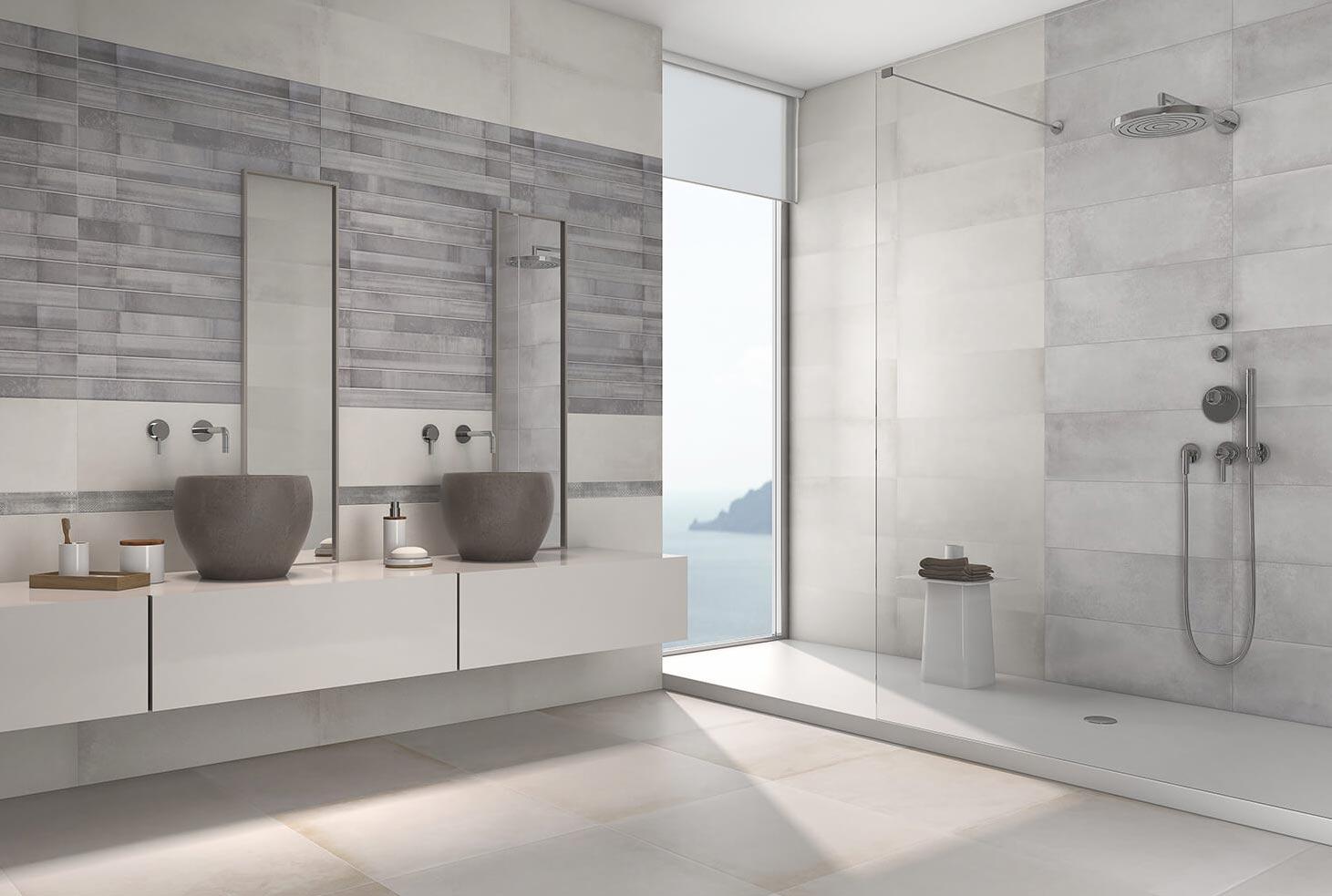 матовая плитка для ванной дизайн