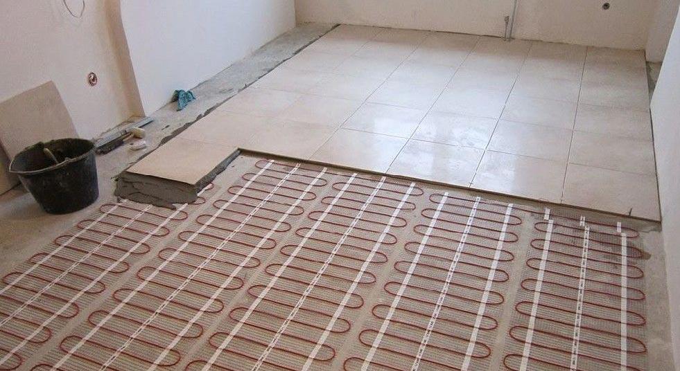монтаж электрического теплого пола под плитку