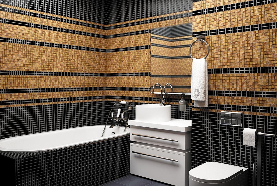 мозаика для ванной дизайн