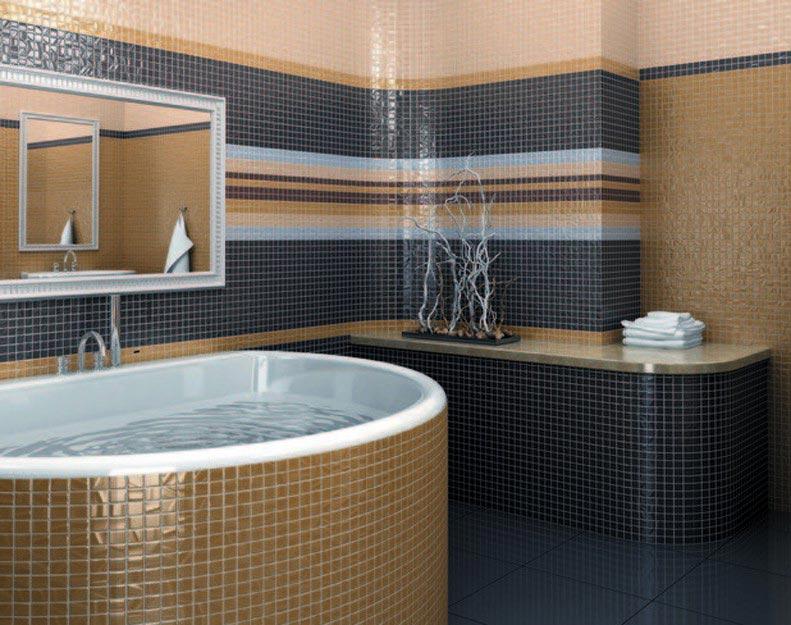 мозаика керама марацци для ванной-варианты