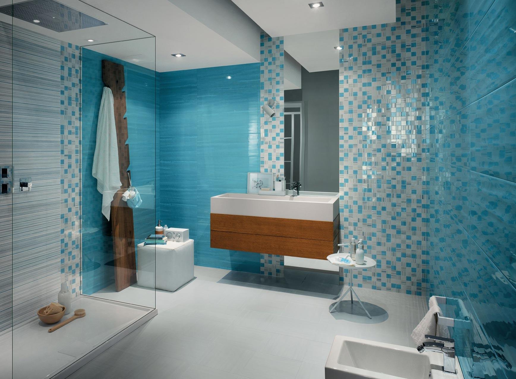 мозаика в ванной-интерьер