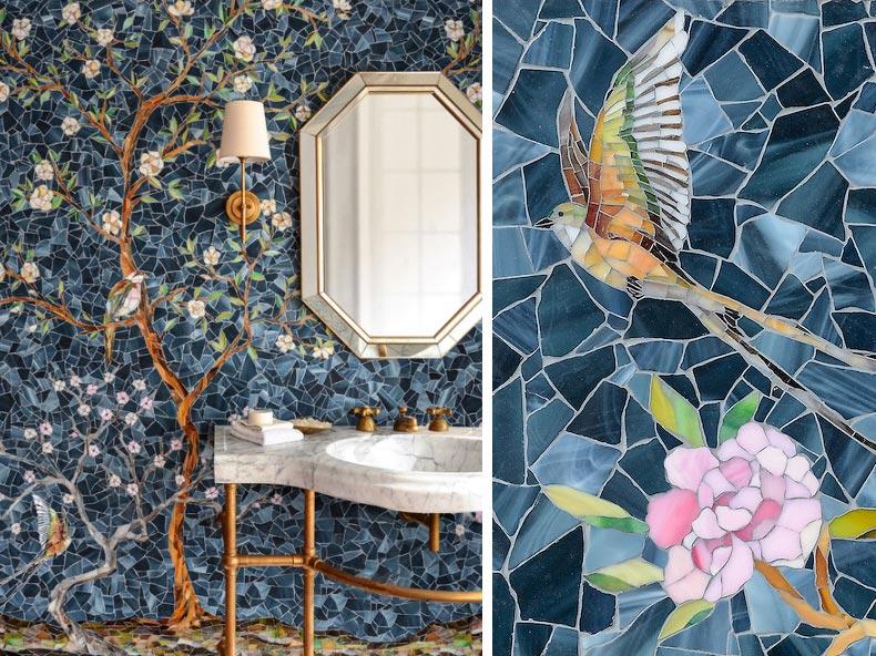 мозаика в ванной-современный дизайн