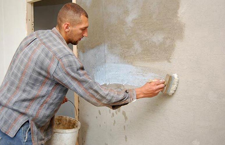 мозаики в ванной-подготовка поверхности(грунтовка)