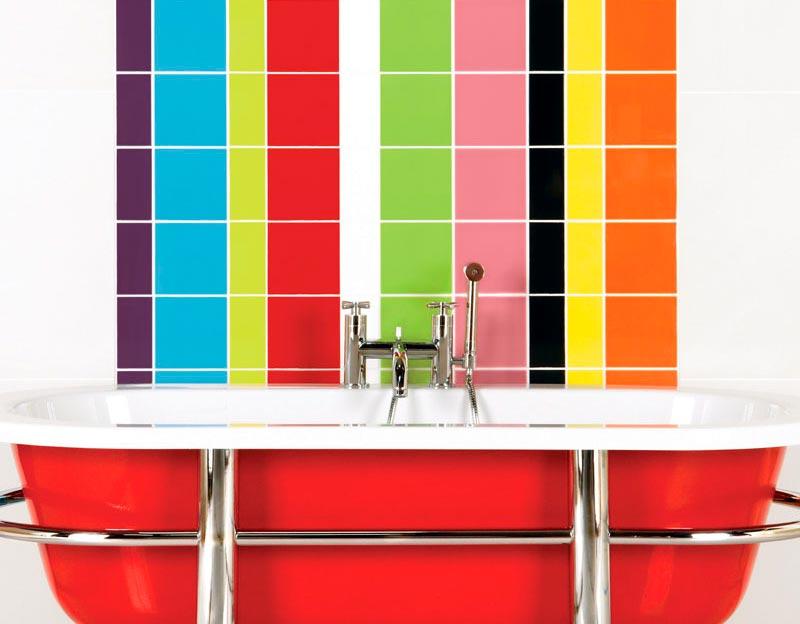 Окрашивание плитки в разные цвета