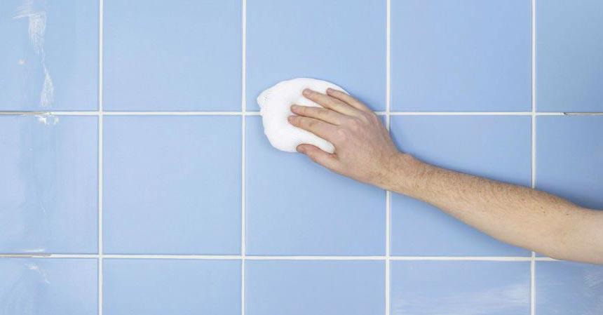 отмыть плитку в ванной