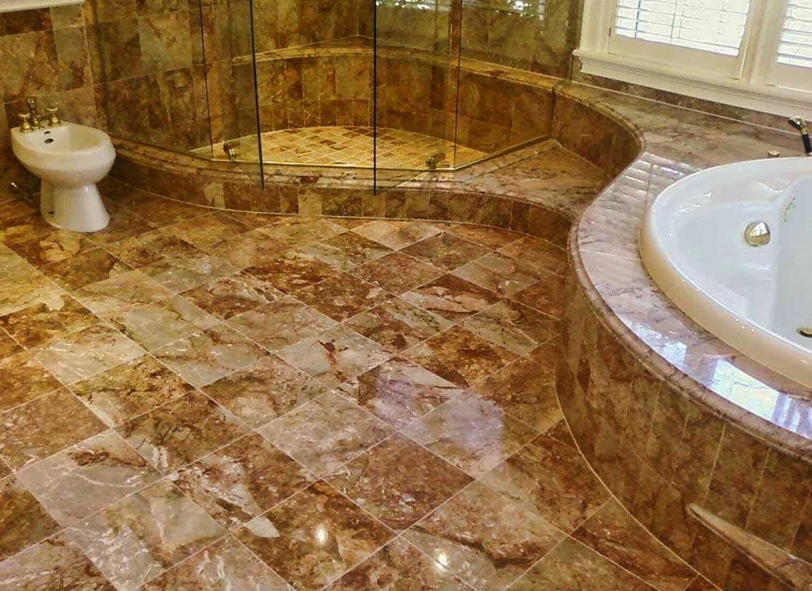 плитка на пол в ванной из камня дизайн