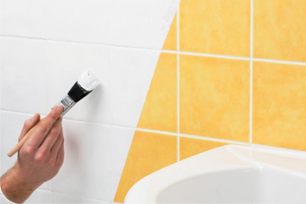 Как покрасить кафельную плитку в ванной?