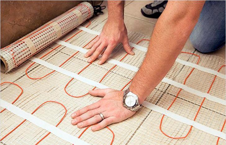 Пошаговая инструкция укладки теплого пола с электроподогревом под плитку