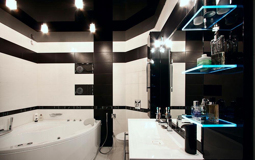 Потолок в ванной 2