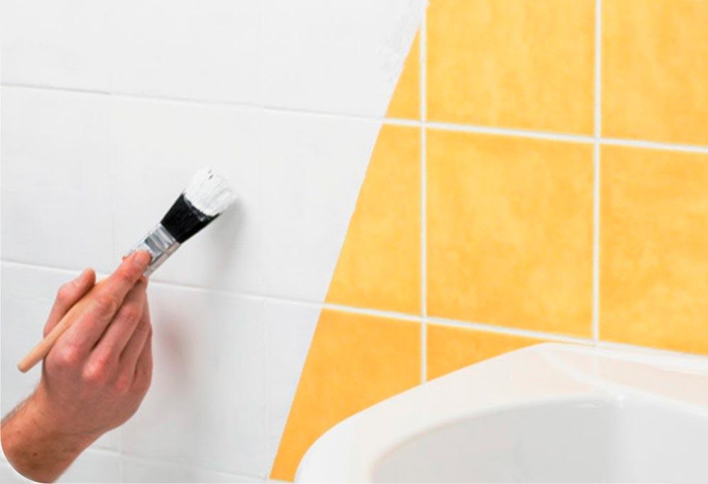 Превью Можно ли покрасить кафельную плитку в ванной