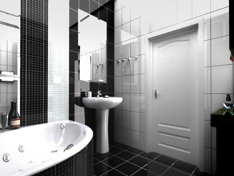 Секреты правильного сочетания черных и белых плиток в ванной 2