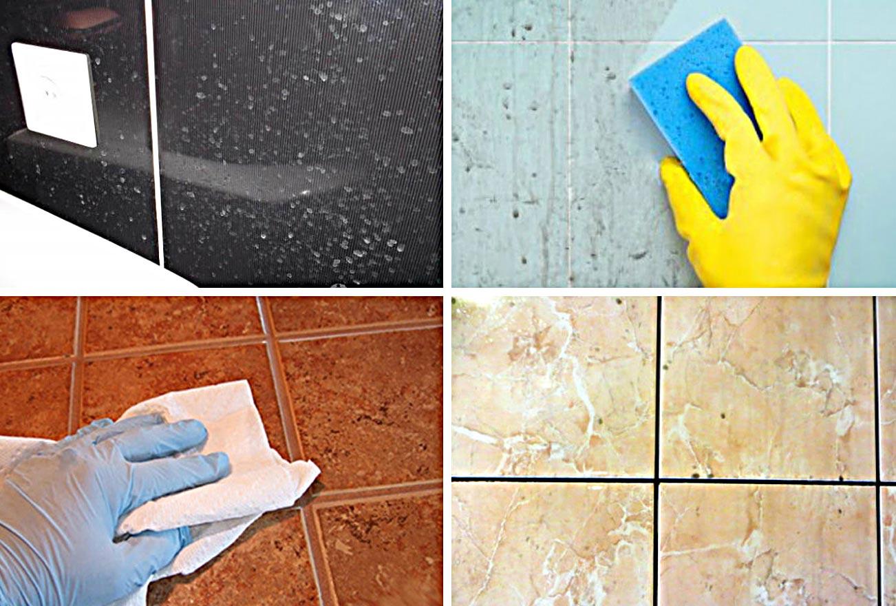 способы очистки плитки от клея