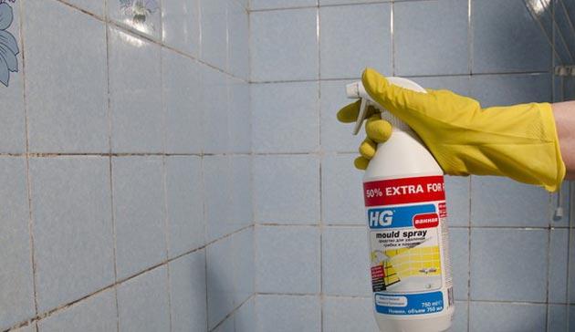 средства для чистки плитки в ванной
