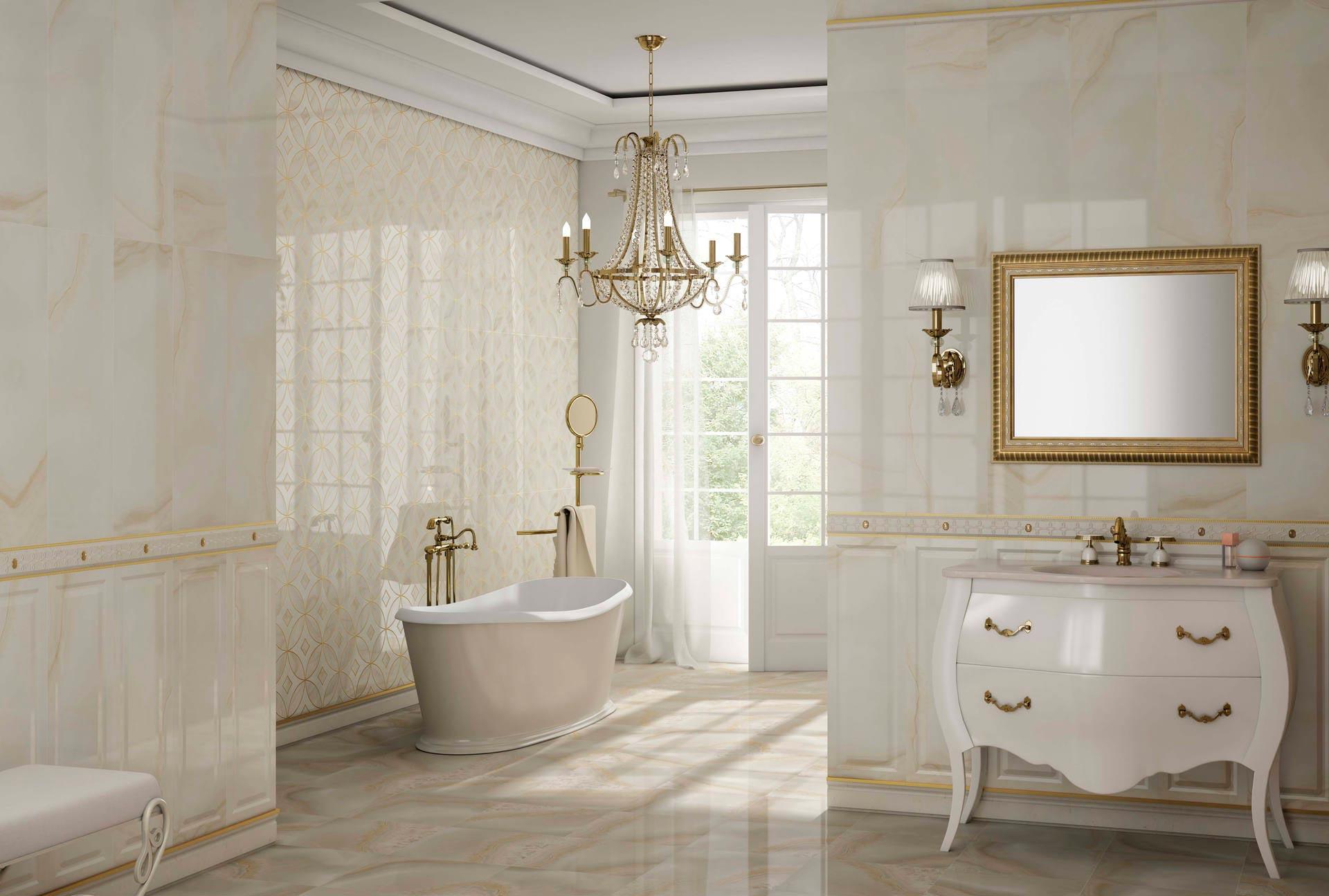 Стиль винтаж для ванной комнаты в мраморе
