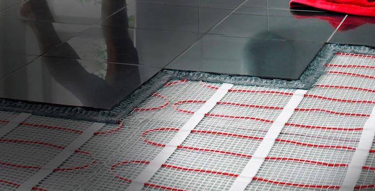 укладка нагревательных матов под плитку