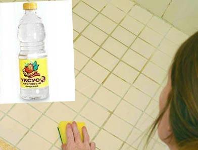 уксус от плесени в ванной комнате