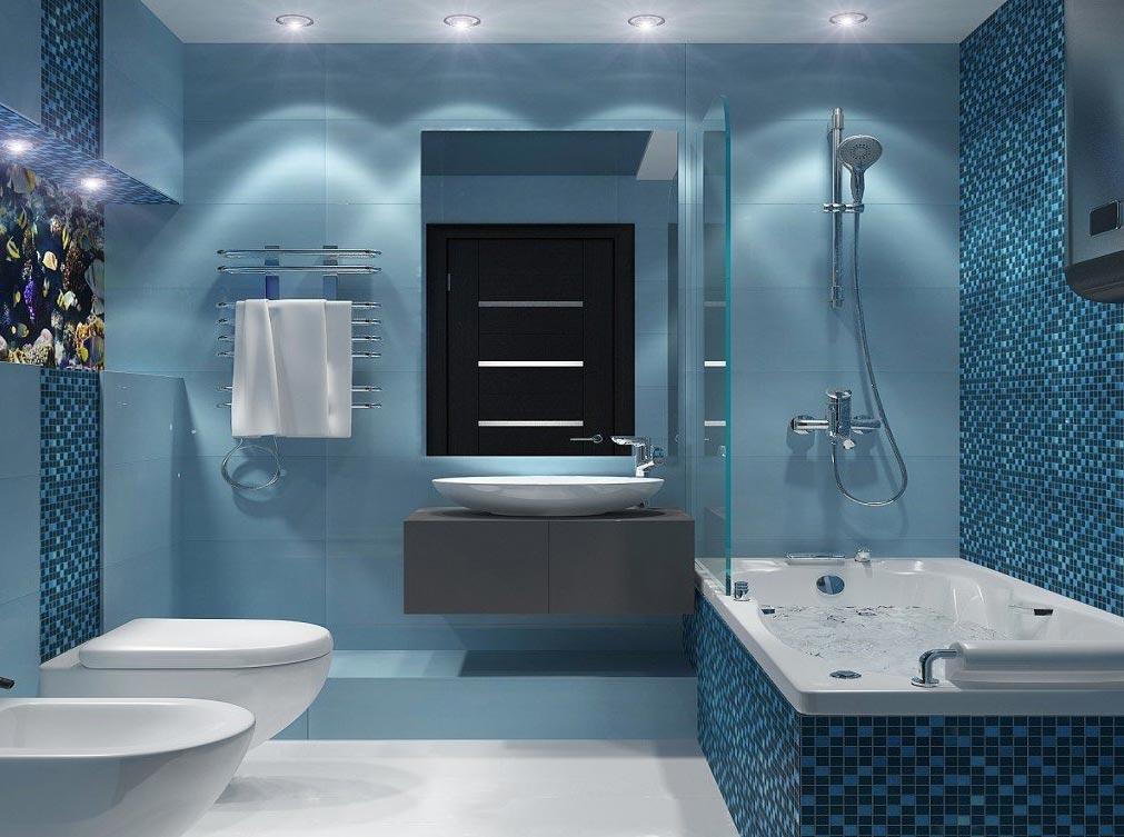 ванная в современном стиле-дизайн