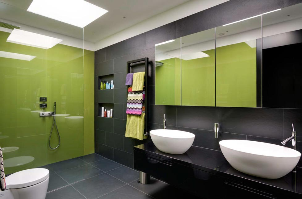 ванная в современном стиле-дизайн, интерьер