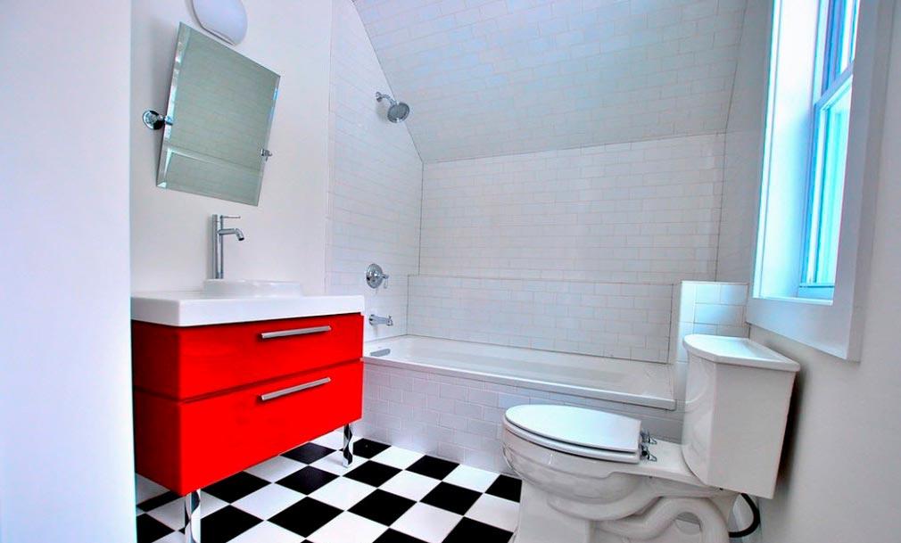Варианты дизайна черно-белой ванны 13