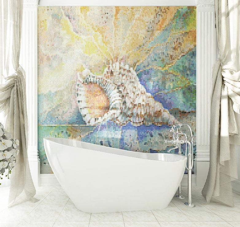 варианты мозаики для ванной