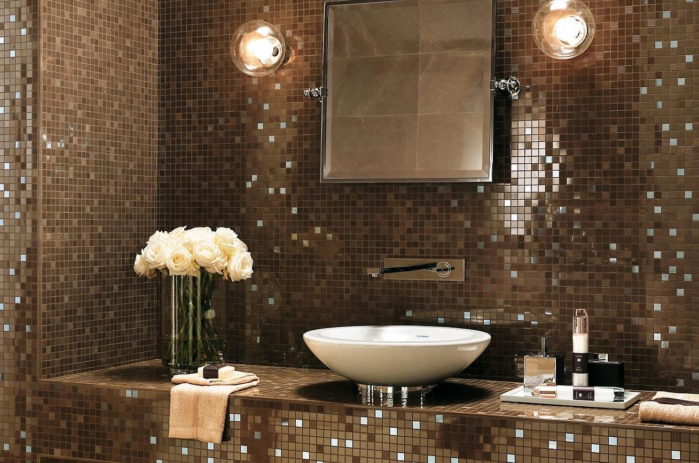выбор стеклянной мозаики для ванной