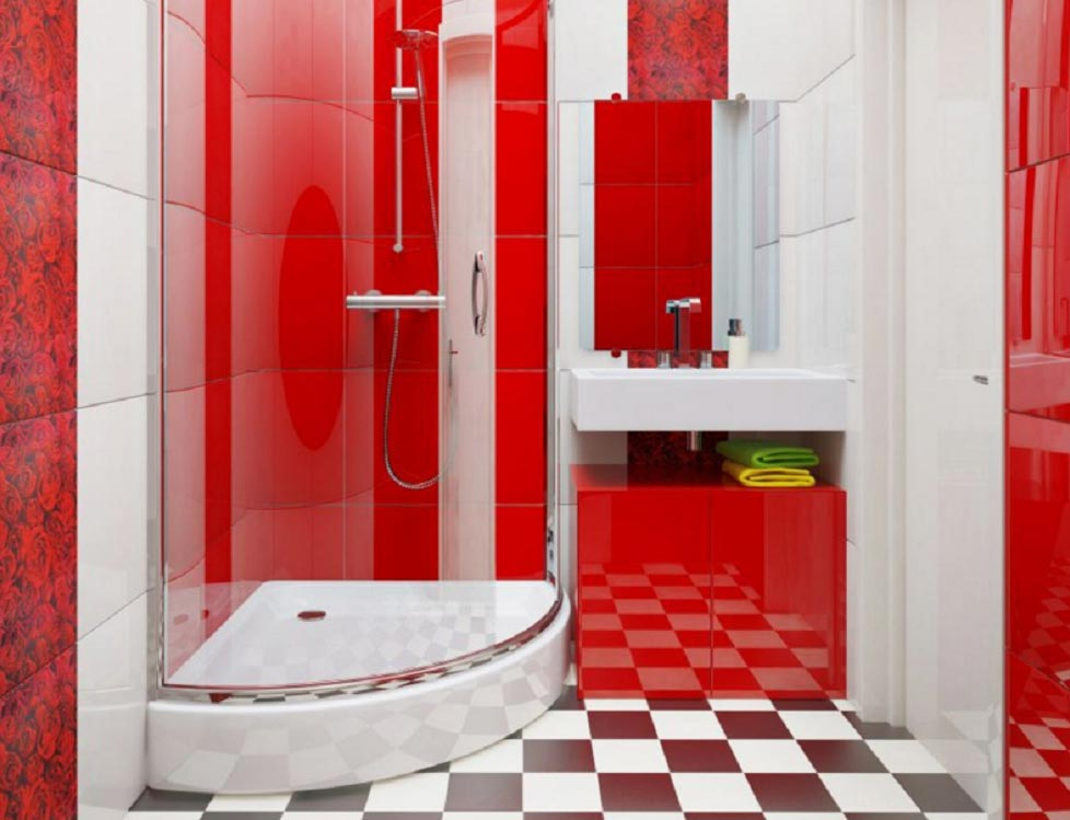 яркая маленькая ванная комната 2