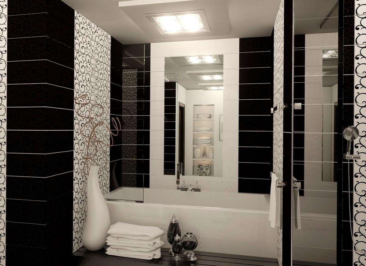 Заключение черно-белая ванна 2