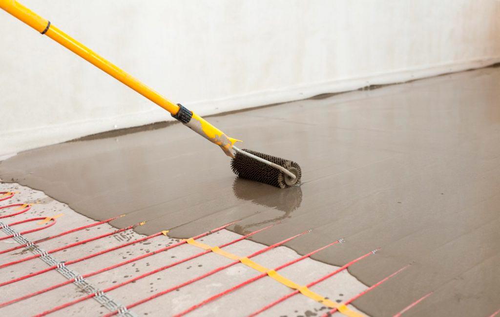 Заливка электрического теплого пола под плитку