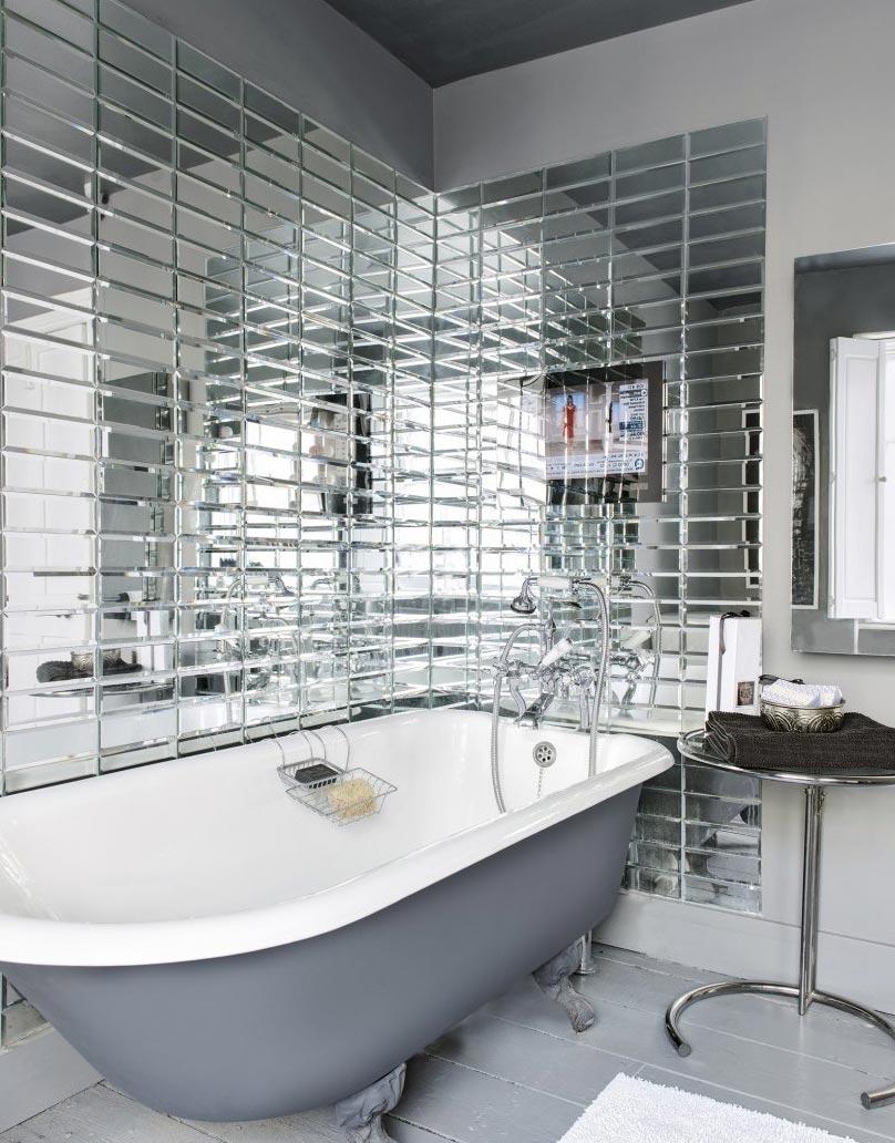 зеркальная плитка для ванной дизайн