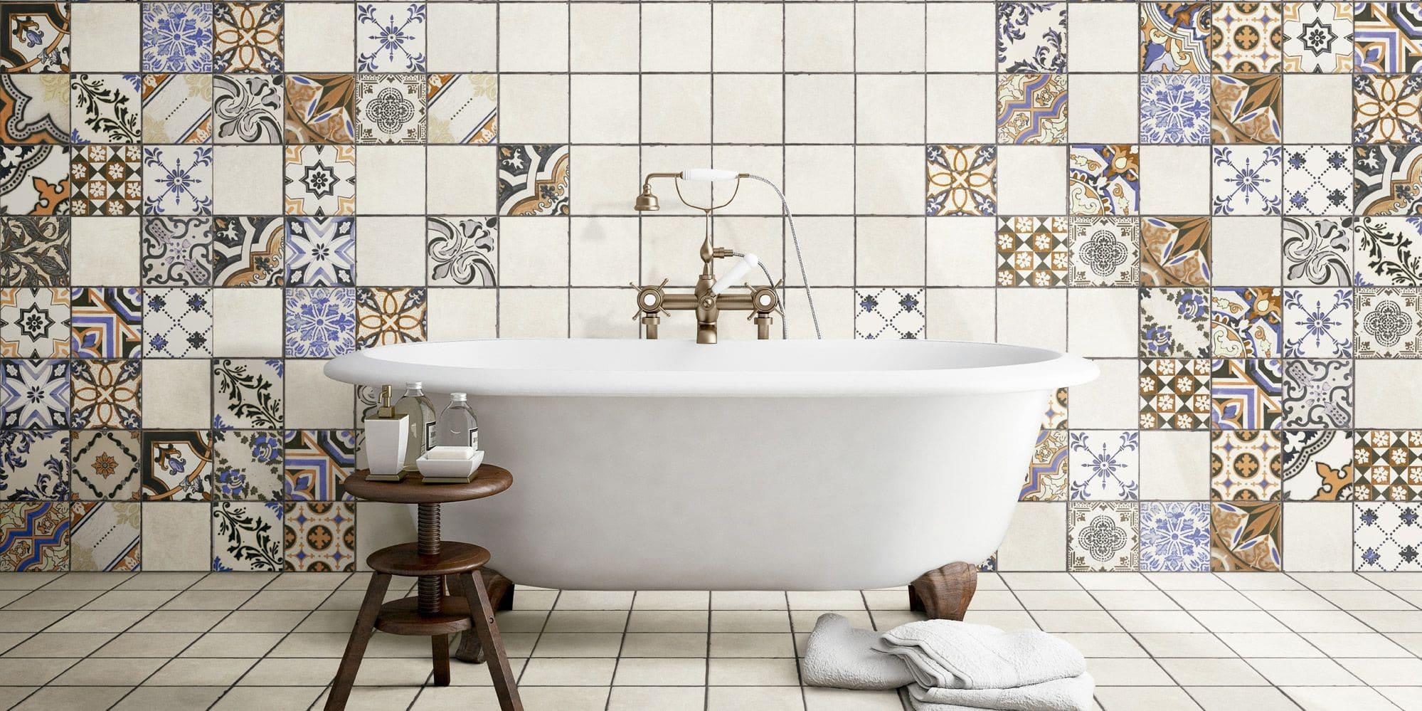 Пэчворк плитка для ванной
