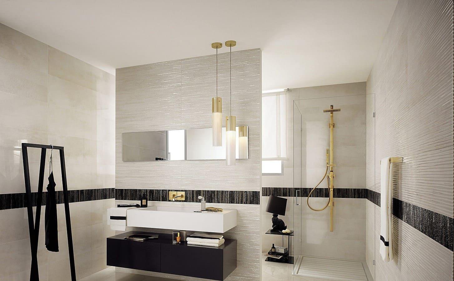 Плитка в современном стиле в ванной